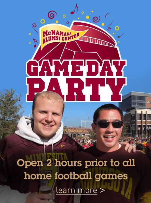 Gameday Party open 2 hours prior to all home football games - learn more >