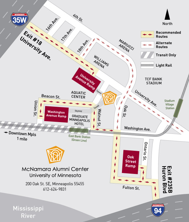 Directions to McNamara Alumni Center