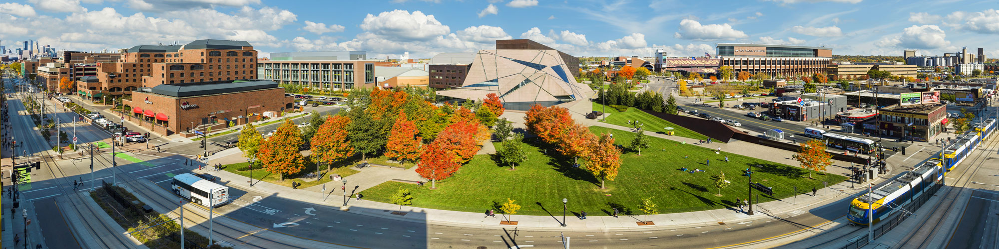 panoramic of McNamara Alumni Center