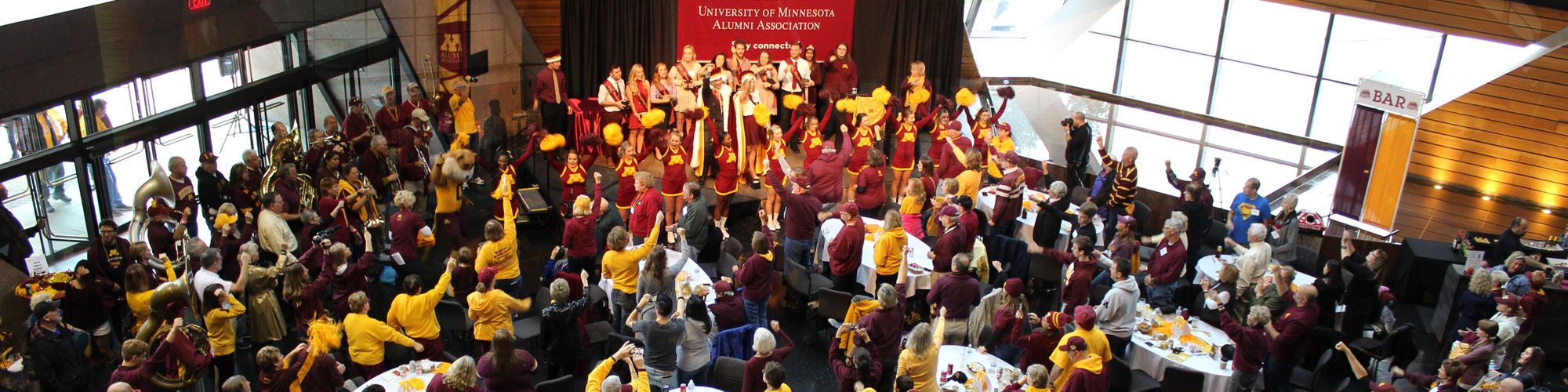 pregame party inside McNamara Alumni Center