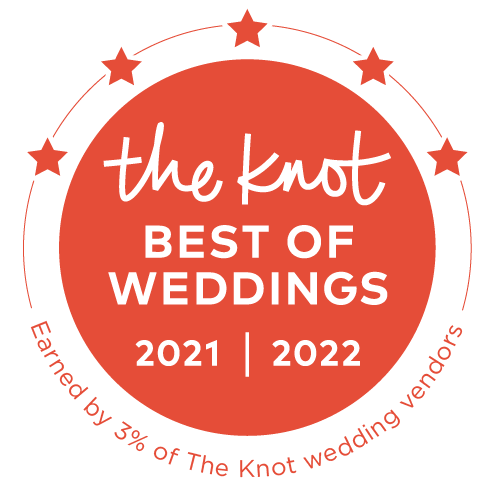 The Knot Best of Weddings 2021 - earned by 3% of The Knot wedding vendors